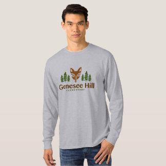 Camisa longa da luva do logotipo adulto do Fox