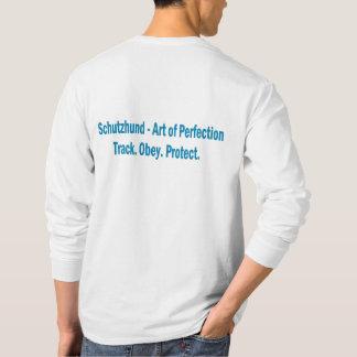 Camisa longa da luva do logotipo do clube de