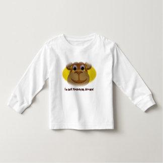 Camisa longa da luva do macaco para crianças camiseta