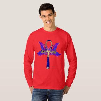 Camisa longa da luva dos homens de Ankh Phoenix