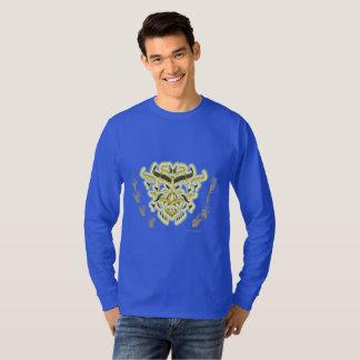 Camisa longa da luva dos homens do dragão do