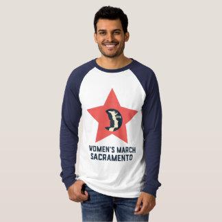 Camisa longa da luva dos homens do março