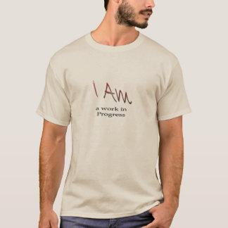 Camisa longa da luva dos homens, eu sou uns