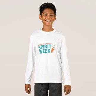 Camisa longa da luva dos miúdos