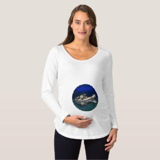 Camisa longa da maternidade da luva do jacaré do