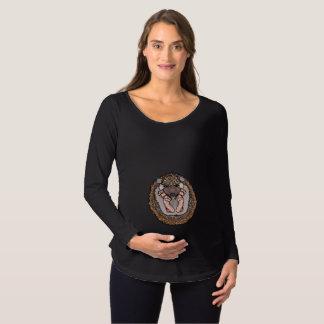 Camisa longa da maternidade da luva do ouriço do