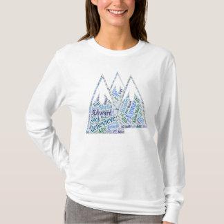 Camisa longa da reunião da luva das mulheres