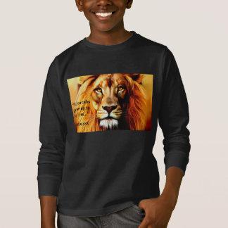 """Camisa longa de Cub do """"leão"""" da luva dos meninos"""
