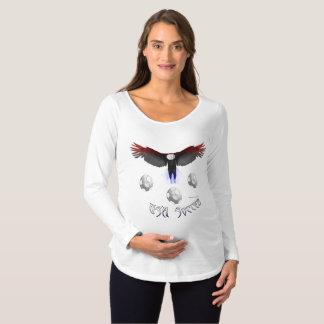 Camisa longa de maternidade da luva de Eagle do