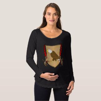 Camisa longa de maternidade da luva do protetor de