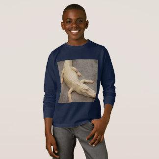 Camisa longa do jacaré da luva das crianças