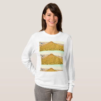 Camisa longa do T da luva das mulheres da montanha