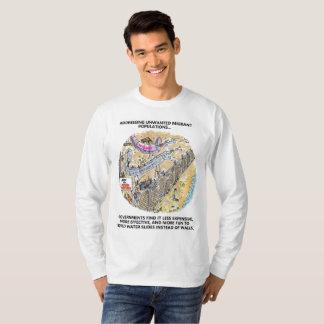 Camisa longa dos desenhos animados da luva das