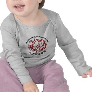 Camisa longa infantil da luva t-shirt