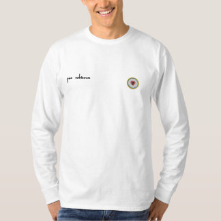 camisa longa transversal da luva do lutheran