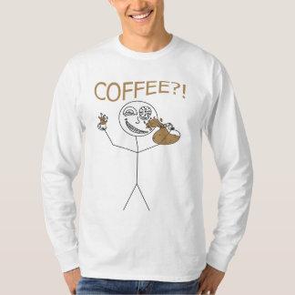 Camisa louca de Stickman do café