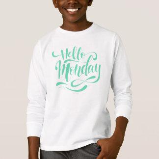 Camisa lunática bonito da luva de segunda-feira  