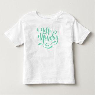 Camisa lunática bonito de segunda-feira   do olá!