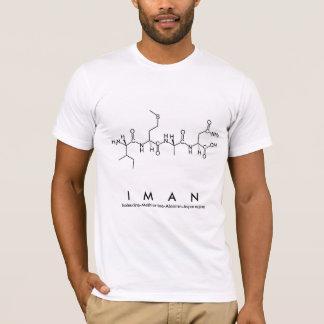 Camisa M do nome do peptide de Iman