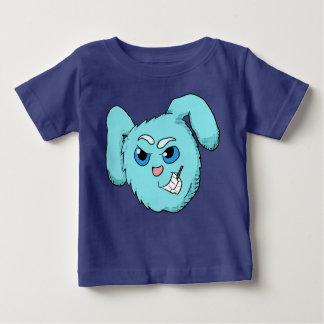 Camisa má azul da cabeça do coelho