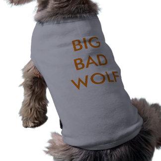 Camisa má grande do lobo camiseta