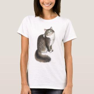 Camisa macia da boneca das senhoras do gato de