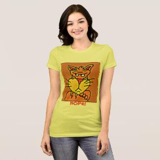 Camisa mal-humorada engraçada do gato