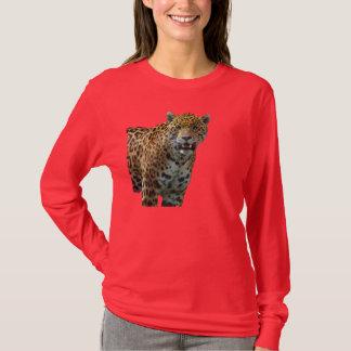 Camisa manchada selvagem do desenhista do gato
