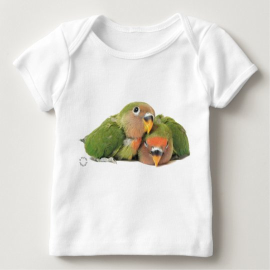 Camisa manga longa bebês agapornis