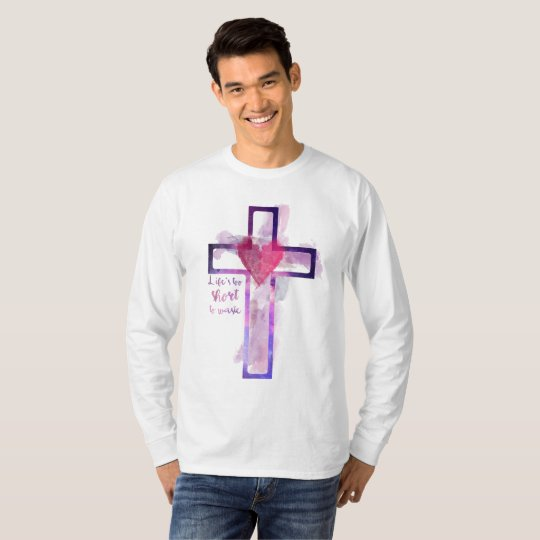 Camisa manga longa com Cruz em aquarela