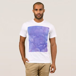 Camisa marmoreada roxo do Watercolour