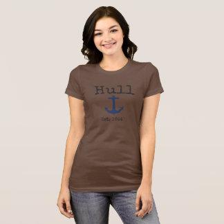 Camisa marrom de Massachusetts da casca para