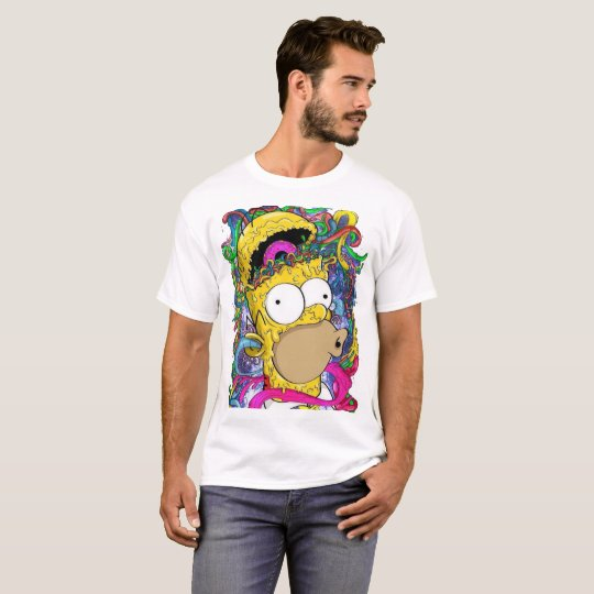 camisa masculina Homer psicodélico