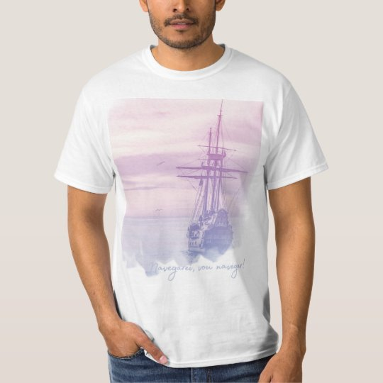 Camisa Masculina - Navegarei, vou navegar