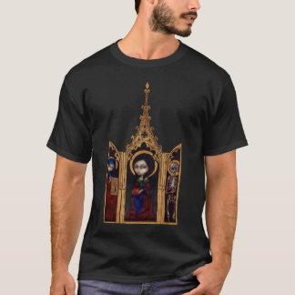 Camisa medieval gótico do Triptych da véspera