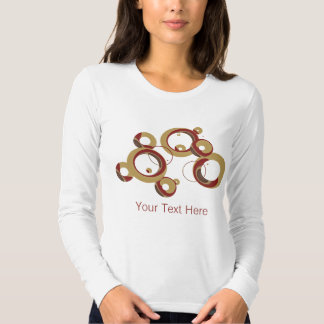 Camisa moderna das bolhas - bege tshirts