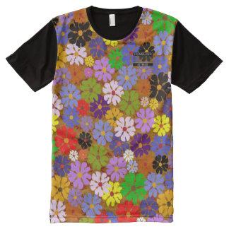 Camisa moderna do multi desenhista floral das