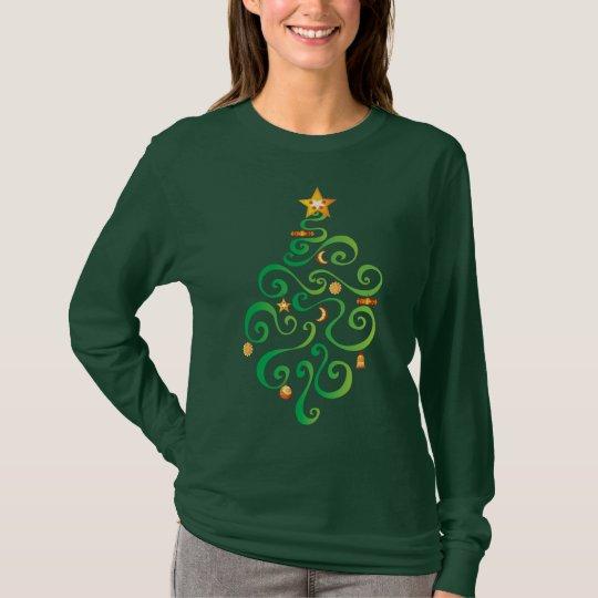 Camisa morna e Cosy da árvore de Natal