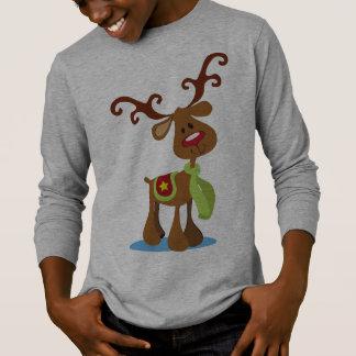 Camisa muito bonito da luva do Natal   da rena