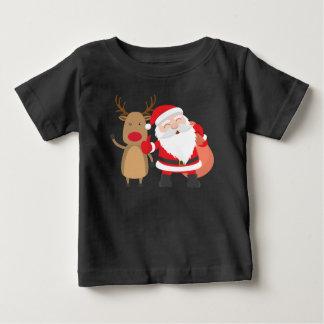 Camisa muito bonito de Papai Noel e de rena |
