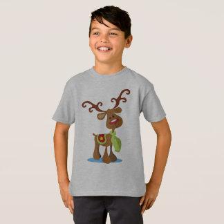 Camisa muito bonito de Tagless do Natal da rena