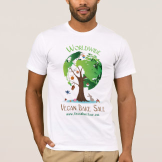 Camisa mundial da venda do assar do Vegan por