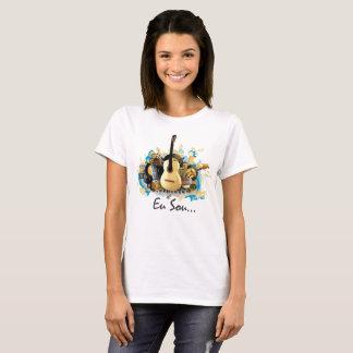 camisa musica arte femenina