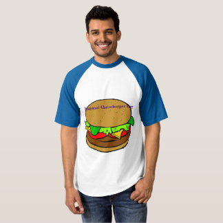 Camisa nacional do Raglan do dia do cheeseburger