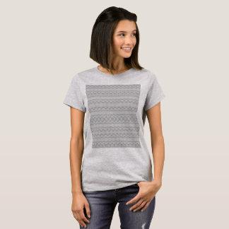 Camisa nativa do espiritual T da pena cinzenta