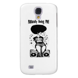 Camisa natural do cabelo T Galaxy S4 Cover