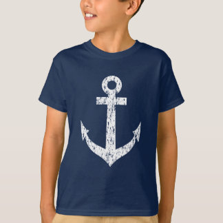 Camisa náutica da âncora t do barco do vintage