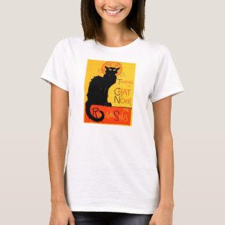 Camisa Noir das senhoras do gato preto do