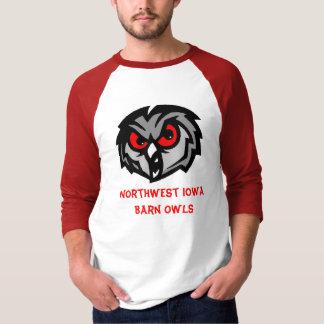Camisa noroeste das corujas de celeiro de Iowa