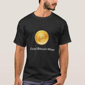 Camisa oficial do mineiro T de Bitcoin